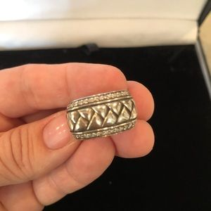 Stunning like new Scott Kay basketweave ring